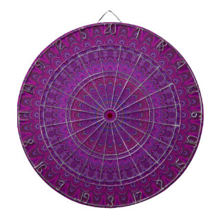 Purple flower mandala dartboard