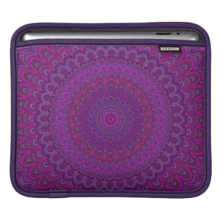 Purple flower mandala iPad sleeve