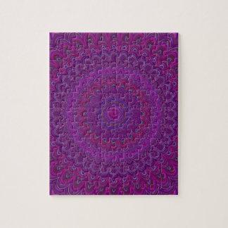 Purple flower mandala jigsaw puzzle