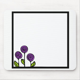 Purple Flower Mouse pad