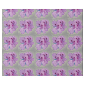Purple Flower on Silver Wrapping Paper