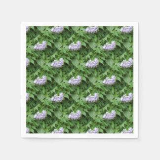Purple flower party disposable napkins