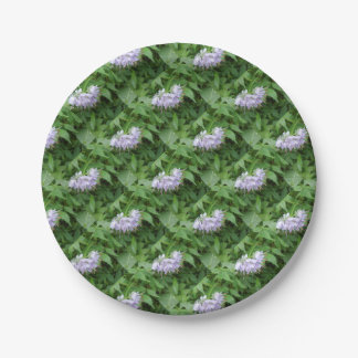 Purple flower party paper plate