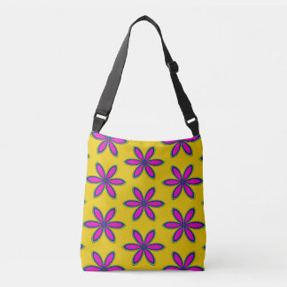 Purple Flower Patch Crossbody Bag