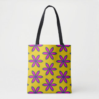 Purple Flower Patch Tote Bag