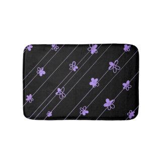 Purple Flower Pattern bath mat