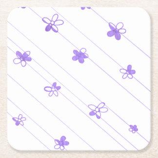Purple Flower Pattern coaster
