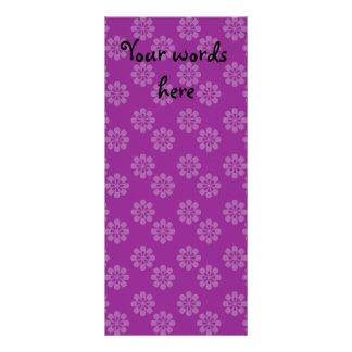 Purple flower pattern custom rack card