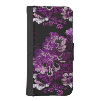 Purple Flower pattern iPhone 5/5S Wallet Case