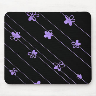 Purple Flower Pattern mouse pad