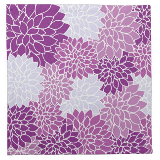 Purple Flower Pattern Napkin