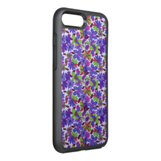 Purple Flower Pattern OtterBox Symmetry iPhone 7 Plus Case