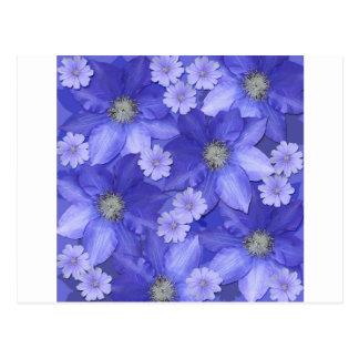 Purple Flower Pattern Postcard