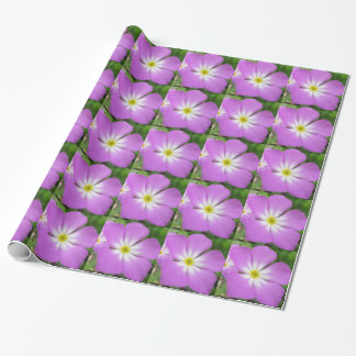 Purple Flower Petunia Wrapping Paper