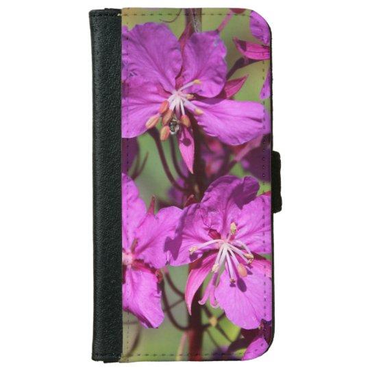 Purple Flower Phone Case 1 iPhone 6 Wallet Case