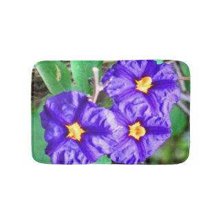 Purple Flower Photograph Bathroom Mat