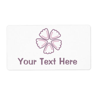 Purple Flower Pink Dots 1 Shipping Label