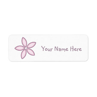 Purple Flower Pink Dots 2 Return Address Label