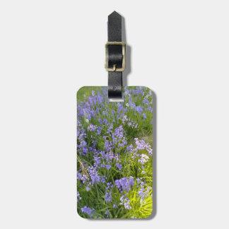 Purple Flower plant Bag Tag