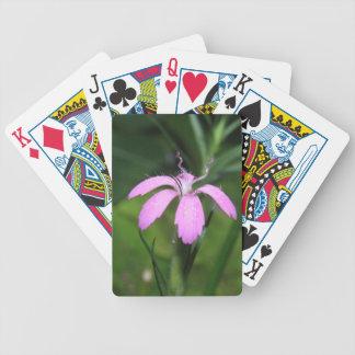 Purple Flower Poker Deck