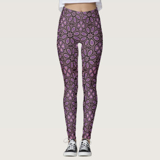 Purple Flower Power Leggings