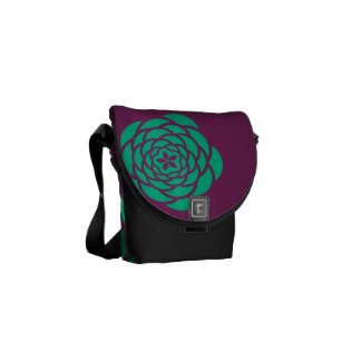 Purple Flower Power Messanger Bag Commuter Bags