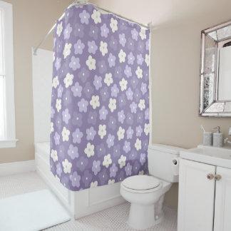 Purple Flower Power Shower Curtain
