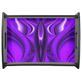 Purple Flower Rainbow Dreams - Angel Wings Serving Tray