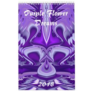 Purple Flower Rainbow Dreams Calendar