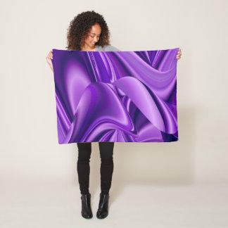 Purple Flower Rainbow Dreams Fleece Blanket