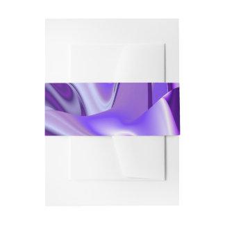 Purple Flower Rainbow Dreams Invitation Belly Band