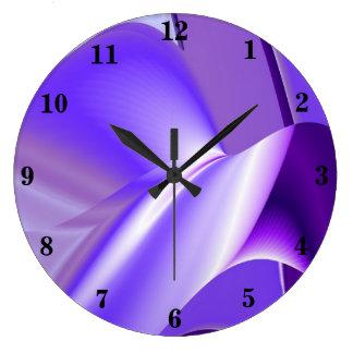 Purple Flower Rainbow Dreams Large Clock