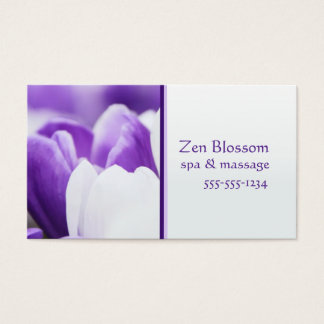 Purple Flower Spa Business Card