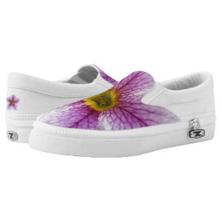 Purple Flower Toes Slip-On Sneakers