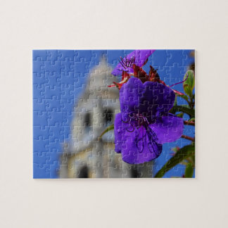 Purple Flower & Tower Puzzle