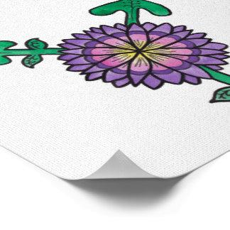 Purple Flower Transgender Symbol Poster