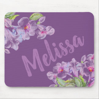Purple Flower Violet Girly Mousepad