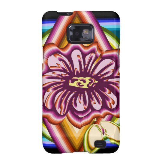 Purple flower with geometric shapes galaxy s2 covers