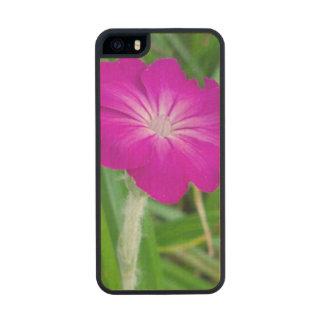 Purple Flower Carved® Maple iPhone 5 Slim Case