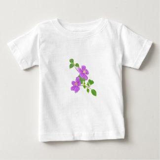 Purple Flowers Baby T-Shirt