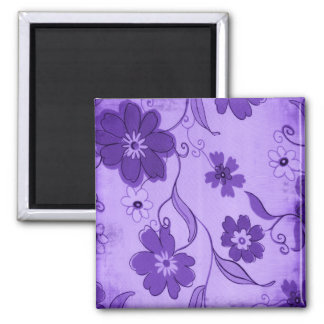 Purple Flowers Background Magnet