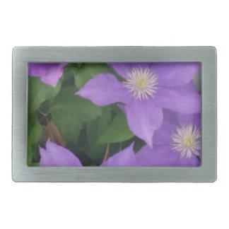 purple flowers belt buckles