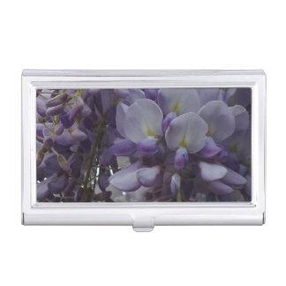 Purple Flowers Business Card Holder