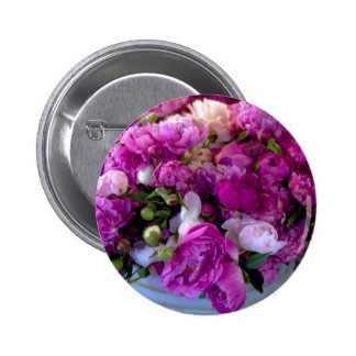 Purple Flowers Pinback Buttons