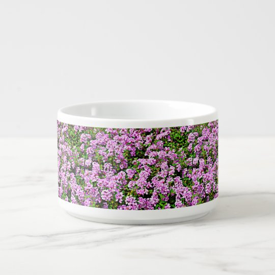 Purple Flowers Chili Bowl