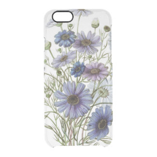 Purple Flowers Clear iPhone 6/6S Case