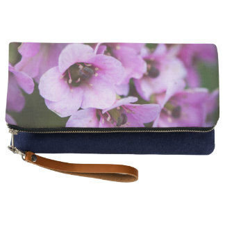 Purple flowers clutch