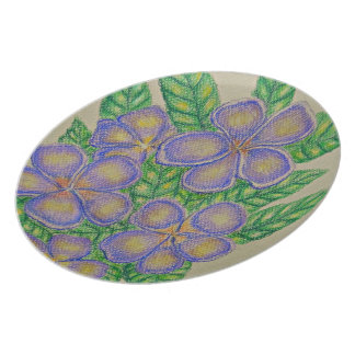 Purple Flowers Dinner Plate