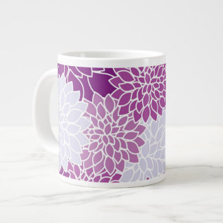 Purple Flowers Floral Pattern Girly Mugs