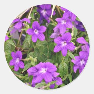 Purple Flowers flowers Round Sticker